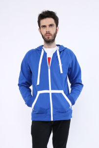 Customized Cotton Fleece Hoodies with Full Zipper pictures & photos