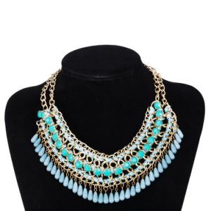 Gold Plated Handmade Bead Bohemian Style Pendant Necklace Jewelry pictures & photos