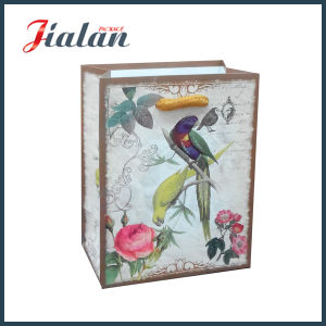 210g White Card Matte Lamination Custom Paper Bag with Handle pictures & photos