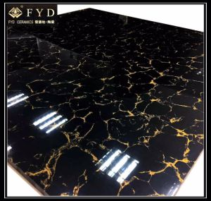 60*60 Pulati Black Polished Porcelain Tile Fp6007 pictures & photos