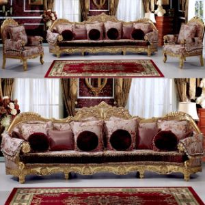 Wooden Sofa Set with Sofa Chair for Home Furniture (962) pictures & photos