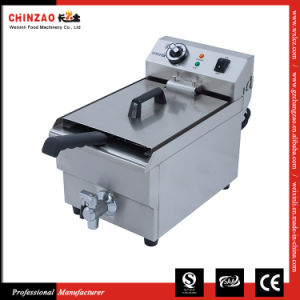 Single Tank Countertop Deep Fryer Electric Frying Machine Dzl-13V pictures & photos