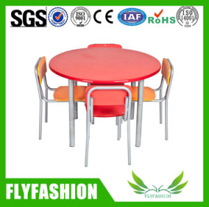 Stacking Plastic Chairs Kids Furniture Wood Round Table pictures & photos