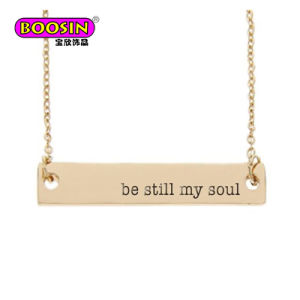 2017 Fashion Personalized Custom Blank Metal Name Bar Necklace Jewelry pictures & photos
