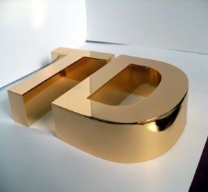 Stainless Steel Plating Golden Letter pictures & photos