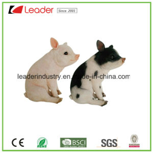 Polyresin Realistic Pretty Pig Standing Figurine for Home Decoration and Garden Ornaments pictures & photos