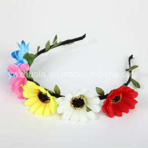 Fashion Colorful Flower Headband Wreath pictures & photos