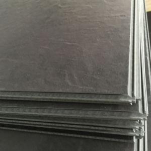 PVC Luxury Vinyl Click Flooring Tiles / Planks (slate / wood embossing) pictures & photos