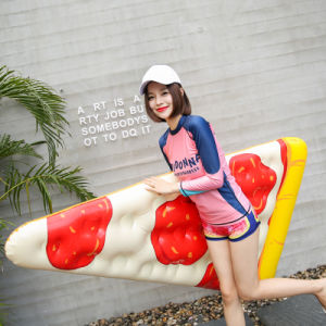 Inflatable Water Swim Pool PVC Pizza Lounge Bed Float Toy pictures & photos