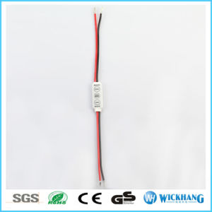 Mini DC 12V 3 Key Dimmer Controller for Single Color 5050 3528 LED Light Strip pictures & photos