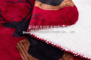 Polyester Printed Sherpa Fleece Blanket /Baby Blanket Elk pictures & photos