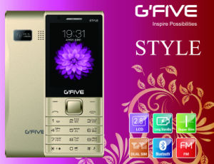 Gfive Style 2.8′′ Feature Phone with FCC, Ce, 3c