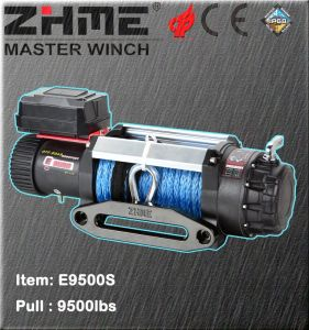 9500lbs Pull Electric Power Resource Winch with Synthetic Rope pictures & photos