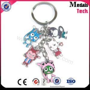China Factory Advertising Gift Soft Enamel Cat Keychain pictures & photos