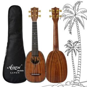Koa Piliko Koa All Solid Koa Pineapple Ukulele in Long Neck pictures & photos