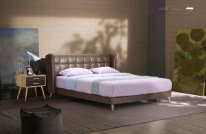 Bedroom Furniture New Elegant Design Modern Leather Bed (HC872) pictures & photos