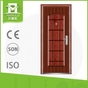 Morden Cheap Wrought Iron Door Frame Steel Door pictures & photos