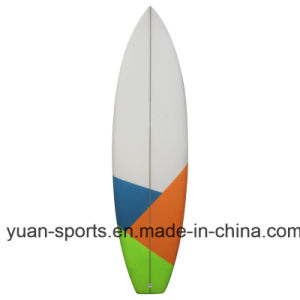 "Popular Short Epoxy Surfboard Fine Quality Size 5′8"", 6′, 6′2"", 6′4"" pictures & photos"