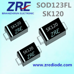 1A Sk12FL Thru Sk120FL Surface Mount Schottky Barrier Rectifier Diode SOD123FL Package pictures & photos