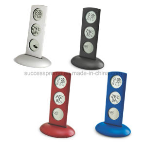 Metal Treble Display Weather Station Alarm Clock, Desk Table Clock pictures & photos