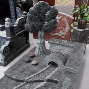 Olive Green Granite Tree Bridge River Carving Monument pictures & photos