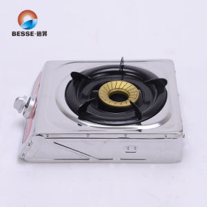 Single Burner Gas Stove with Stainless Steel Panel pictures & photos