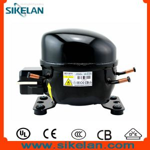 High Efficiency AC Refrigerator Compressor Mk-Qd110yv R600A Gas 220V Lbp 1/4HP pictures & photos