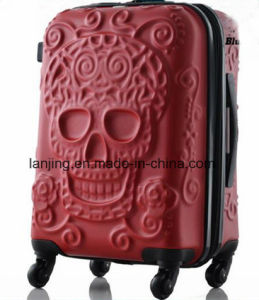 Spinner Wheel Brand Travel Suitcase Original 3D Skull Luggage Backpack pictures & photos