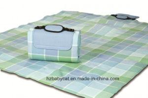 Low Price Check Pattern Polar Fleece Waterproof Picnic Mat pictures & photos