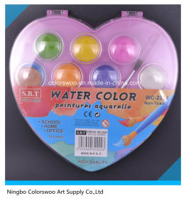 3.0cm 12 Colors Water Color Cake for Kids and Students pictures & photos