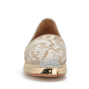 Lady Metal-Toe Embroidery Suede Leather Casual Women Rope Flats Shoes pictures & photos
