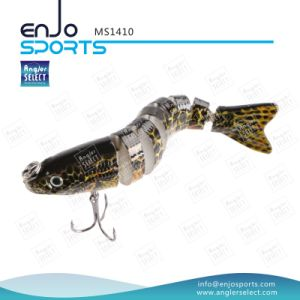 Multi Jointed Plastic Lure Sinking Bait Trible Hook Fishing Tackle Fishing Lure pictures & photos