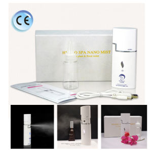 Handheld Atomization Cold Steam Facial Nano Mist Steamer with USB Rechargeable Moisturizing Mist Sprayer pictures & photos