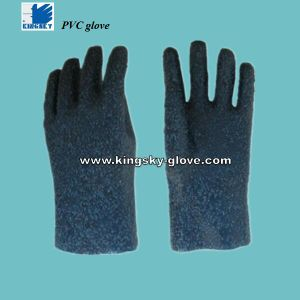 Anti-Slip PVC Safety Cuff Work Glove (PVC Glove-Chemical Glove-Industrial Glove) pictures & photos