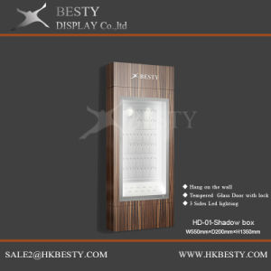 Jewelry Window Display Wall Box with LED Light pictures & photos