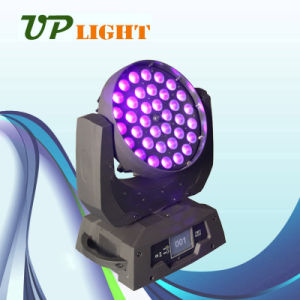 Stage Lighting 36*18W Rgbwauv 6in1 Zoom Wash LED Moving Head pictures & photos