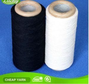 Nm10s-Nm20s Cotton Glove Yarn in Raw White and Black Colors pictures & photos