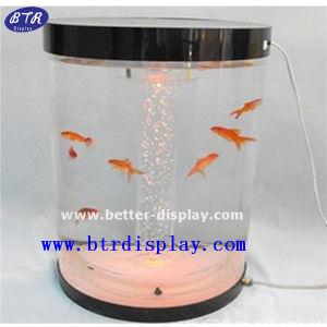 Custom Cylinder Fish Tank Large LED Acrylic Aquarium Tank (BTR-YKL) pictures & photos