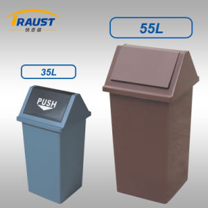 35L, 55L Swing Plastic Dustbin/Confidential Waste Bin pictures & photos