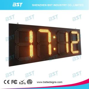 Outdoor Jumbo High Brightness Waterproof LED Time Sign with Temperature Display 88: 88 pictures & photos