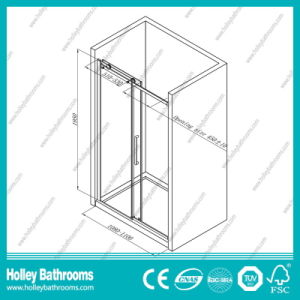 Hot Selling Rectangle Shower Sliding Room with Aluminium Alloy Frame (SE907C) pictures & photos