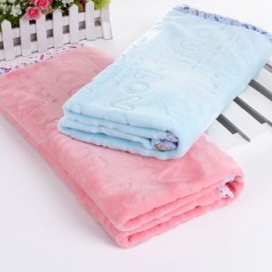 Pink Cozy Fleece Throw Blanket pictures & photos