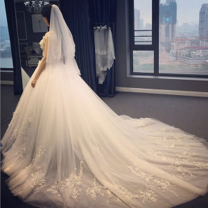 2017 Elegant Princess Bateau Bow Waist Wedding Dress (Dream-100063) pictures & photos