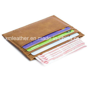 Promotion Gift PU Leather Business Name Card Holder Case pictures & photos