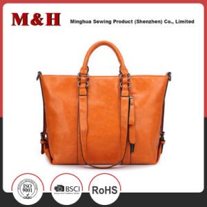 Fashion Rectangular Multifunctional Tote PU Leather Woman Handbag pictures & photos