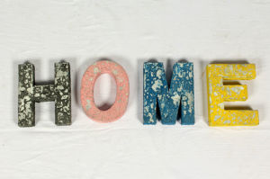 Wall Decorative Brass Resin Key Ring Alphabet Letters Home
