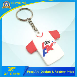Promotion Custom Fashion 3D Soft PVC Rubber T-Shirt Keychain for Advertising Souvenir Gifts (XF-KC-P31) pictures & photos