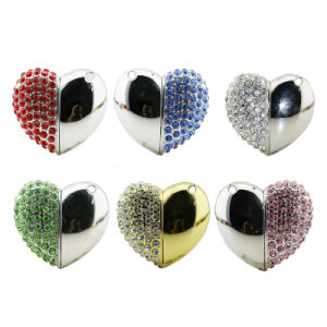 Metal Diamond Heart USB 2.0 Memory Flash Stick Thumb Drive pictures & photos