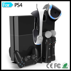 Charging Dock Stand for Playstation 4 Vr PS 3 PS3 Move Motion Controller PS4 Bluetooth Wireless Gamepad pictures & photos