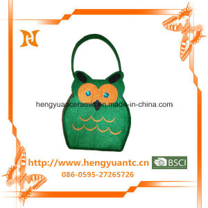 Owl Pattern Cotton Cloth Carrying Bag Wholesale pictures & photos
